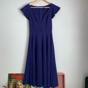 Darling blue midi dress